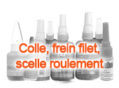Colle, frein filet, scelle roulement
