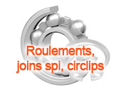 Roulements joints spi circlips