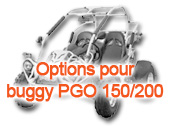 Options pour buggy PGO 150/200